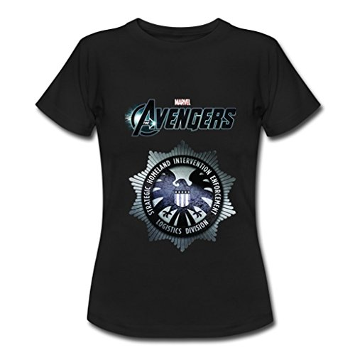 JIUDUIDODO Women's Marvel Avenger Age of Ultron T-Shirts M Black