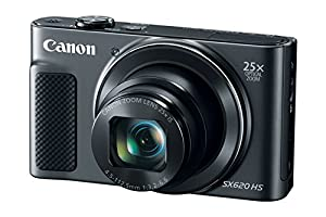 Canon PowerShot SX620 HS Digital Camera (Black) + 64GB Class 10 Memory Card + Point & Shoot Camera Case + Card Reader + Tripod + Screen Protector + Memory Card Case + DigitalAndMore Free Bundle from Canon