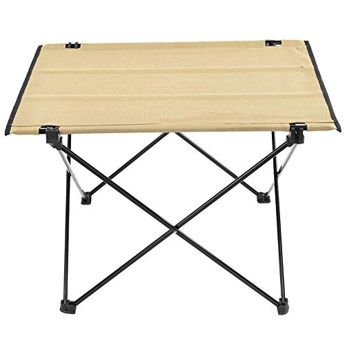 Alomejor Folding Camping Table Ultralight Portable Roll-Up Oxford Collapsible Picnic Table for Hiking BBQ Picnic Fishing