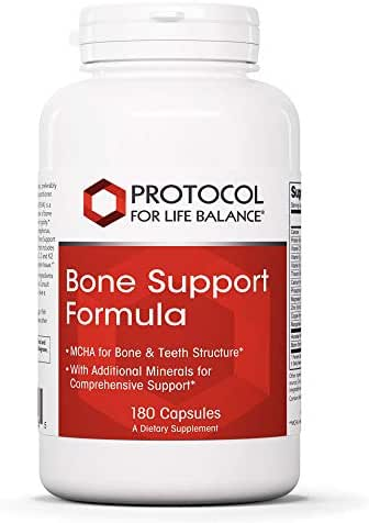 Protocol For Life Balance - Bone Support Formula - with Magnesium and Vitamins C, D, K2 to Support Bone & Teeth Structure, Bone Density, Calcium Absorption, Joint Pain Relief - 180 Capsules