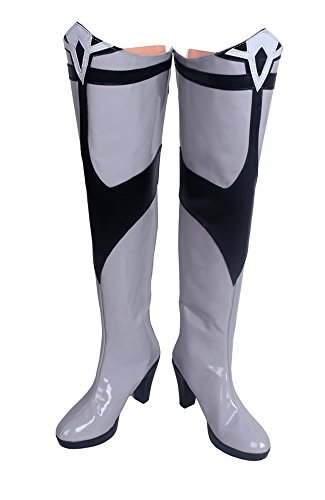 Weiss Schnee Chaussures Cosplay Rwby Costume Anime Bottes Accessoires Accessoires Blanc Pu Chaussures Halloween Cosplay