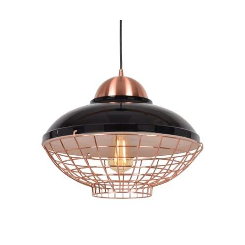 Shiny Copper Pendant Light in US - 6
