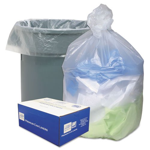 - Ultra Plus High-density Can Liner - 56 Gal - 43 X 48 - 0.63 Mil Thickness - High Density - Resin - 200/pack - Natural
