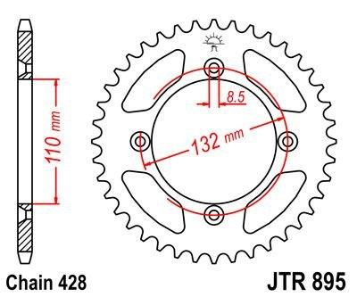 JT Rear Sprocket JTR895 46 Teeth fits KTM 85 XC 08-09