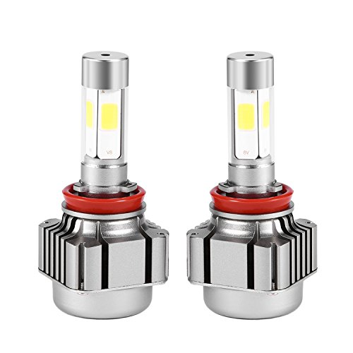 - OUTAD LED Headlight Bulbs Conversion Kit -H11(H8,H9),9600lm 6K Cool White