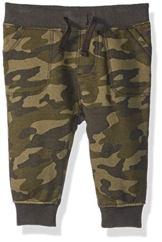 Gymboree Baby Boys Knit Jogger Pants, camo, 18-24 Mo ()