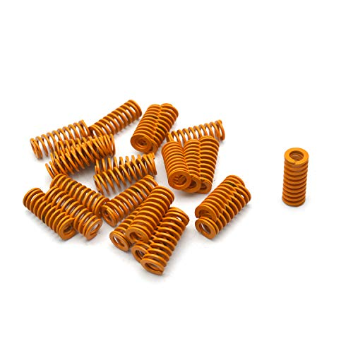 Antrader 8mm OD 4mm ID 20mm Long Light Load Stamping Compression Mould Die Spring Yellow 24pcs ()