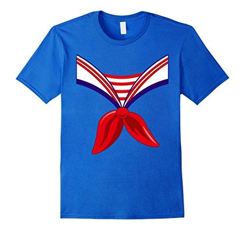 Last Minute Sailor Costume (Mens Sailor Costume Shirt Halloween Seaman Large Royal Blue)