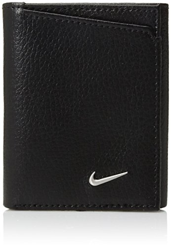 Nike Men's PEBBLE TRIFOLD WALLET Accessory, -black, One Size