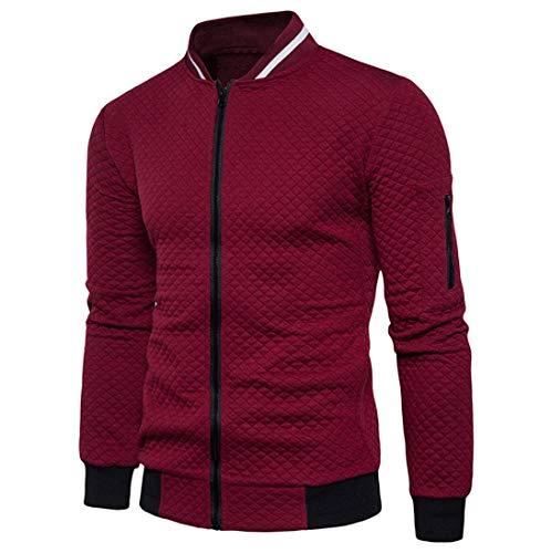 Con shirt Tumblr Cardigan vintage Cerniera Autunno Felpe Rosso Top Uomo Homebaby Giacca T Casuale Camicetta Elegante 5qHPxEfCw