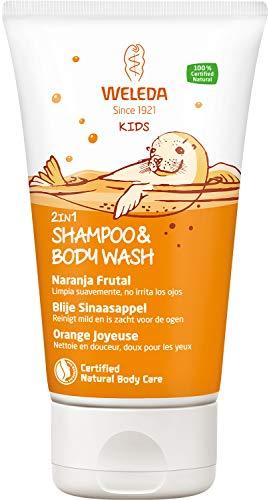 Weleda Kids 2 In 1 Shampoo & Body Wash Blije Sinaasappel, 150 ml