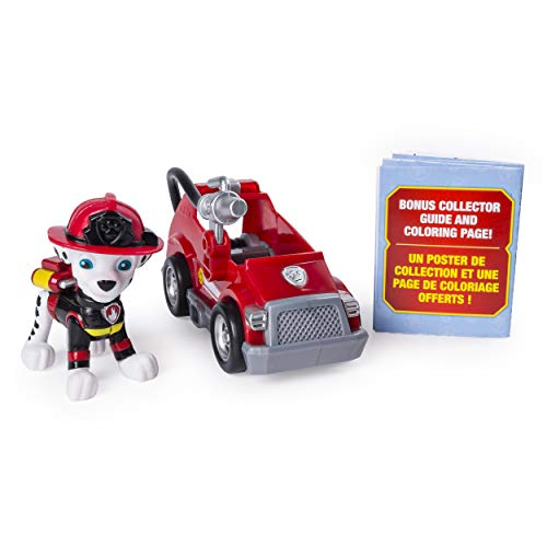 PAW Patrol Ultimate Rescue Marshall's Mini Fire Cart with Collectible Figure, Ages 3 and Up
