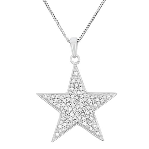 1/4 CTTW Sterling Silver star Diamond ()