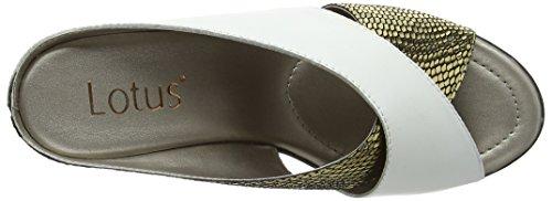 Leather Blanc Trino Platino Snake White Lotus Mules Femme q6xaUX