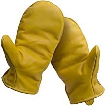 American Made Cowhide Leather Pile Lined Chopper Mitt Gloves , 9200PL, Size: 9