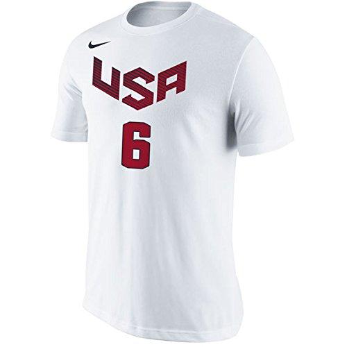 72c5750f3 Camiseta de manga corta Nike USA Basketball Name and Number (LeBron James)  - Small  Amazon.es  Ropa y accesorios