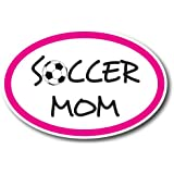 Soccer Mom Car Magnet Decal - 4 x 6 Oval Heavy Duty for Car Truck SUV Waterproof