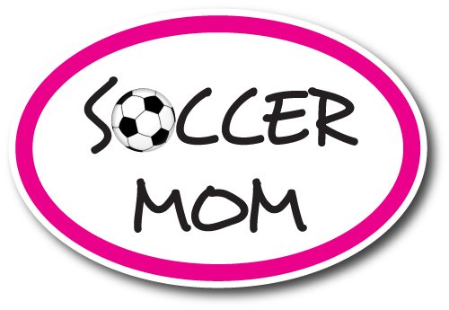 Soccer Mom Car Magnet Decal - 4 x 6 Oval Heavy Duty for Car Truck SUV Waterproof ()