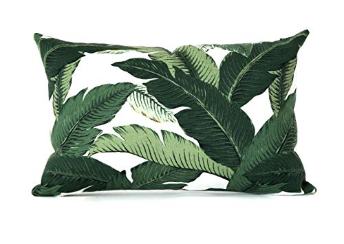 - 12x18 Banana Leaf Tommy Bahama | Back to School | Hollywood Glam Vacation Resort Decor Pillow Cover