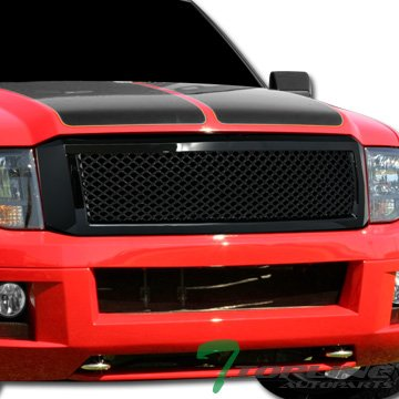 Topline Autopart Glossy Black Mesh Front Hood Bumper Grill Grille ABS For 07-14 Ford - Ford Guard Expedition Grille