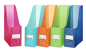 Whitmor Plastic Magazine Organizers Assorted colors Set of 5