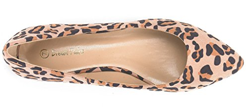 SOLE On Shoes PAIRS Casual Pointed Women's Leopard Ballet DREAM Toe Flats FANCY Soft CLASSIC Comfort Slip x56Bd7n