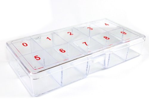 500 PCS False Nail Art Plastic False Nail Tips Storage Box by Meizhoushi nail supplies factory Ownsig