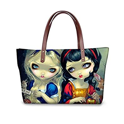 Amazon com: FORUDESIGNS Gothic Girl Bag Handbags Tote Bags Top