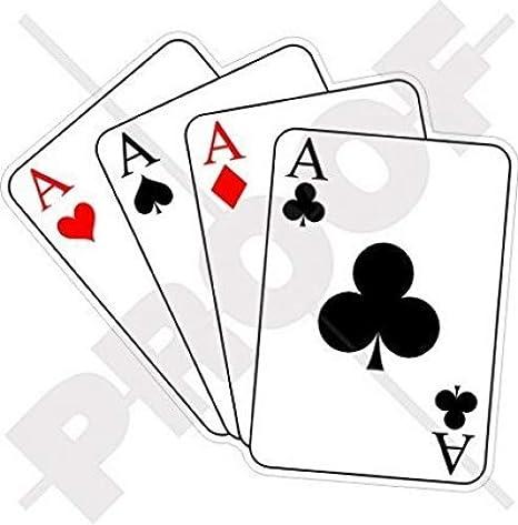 Cuatro ases Casino juego de cartas, poker ace 4,4