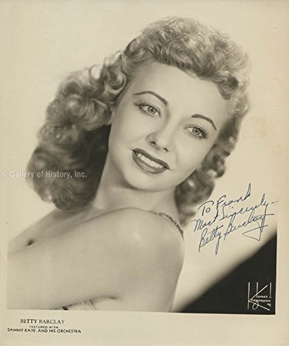 BETTY BARCLAY - INSCRIBED PHOTOGRAPH SIGNED