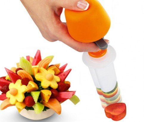 Vegetable Fruit Arrangements Smoothie Cake Tools Kitchen Dining Bar Cooking Accessories Supplies Products (Fruit Vegetable Handle)
