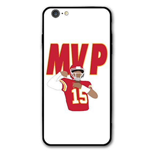 Slim Fit iPhone 6/6s Plus Silicone Case, Kansas City Mahomes MVP Shock-Absorption Anti-Scratch Bumper Cover Dustproof Full Body Drop Protection Cover for Apple iPhone 6/6s Plus