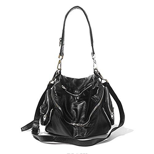 MARTI Lambskin Crossbody Shoulder Bag (black) ()