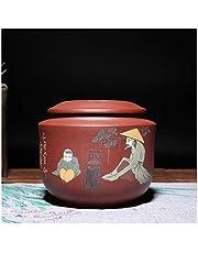 Xiang Ye Sand Tea Caddy de cerámica para té Pu'er rosso