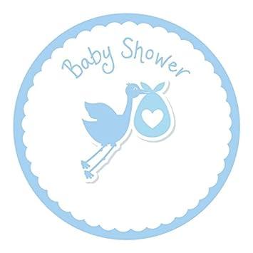 90 Stork Baby Shower Stickers   Blue For Teachers, Parents U0026 Schools