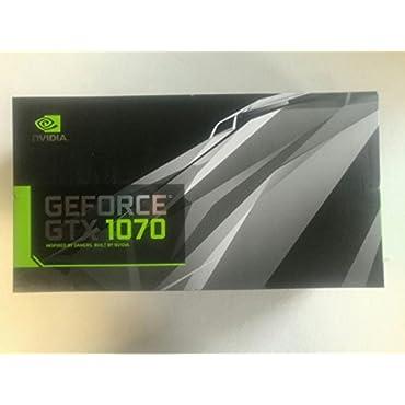 Nvidia Founders Edition GeForce GTX 1070 8GB GDDR5X DVI/HDMI/3DisplayPort PCI Express 3.0 Graphics Card (GTX1070-8G), VR Ready, 900-1G411-2520-001
