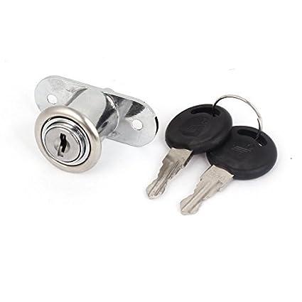 eDealMax la puerta del gabinete de seguridad 2 llaves tubulares de metal cerradura de la leva
