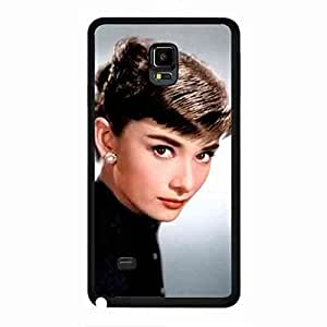 Samsung Galaxy Note 4 Case Back,Samsung Galaxy Note 4 Durrable Case Cover,Audrey Hepburn Classical Beautiful funda