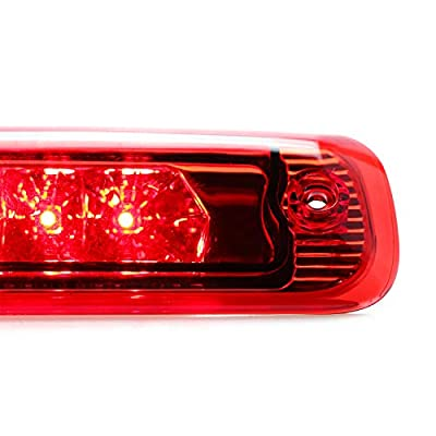 Sanzitop Fit for Jeep Cherokee 1997-2001 55155614AE LED Third 3rd Brake Cargo Light Assembly Rear Brake Light Center Tail Light (Chrome Housing Red Lens): Automotive