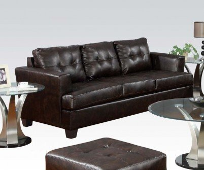 1PerfectChoice Platinum 2Pcs Brown Bonded Leather Sofa Set Loveseat