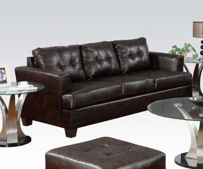 1PerfectChoice Platinum 2Pcs Brown Bonded Leather Sofa Set Loveseat