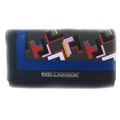 Wallet + checkbook holder 'Ted Lapidus' blue. by Ted Lapidus
