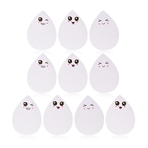 (T-Trees 10pcs/pack DIY Water Drop Funny Face Memo Pad Sticker Label Post It Sticky Note Marker School Office Supply Stationery Student Kid Gift (Random Style Delivery))