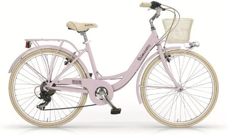 MBM Primavera - Bicicleta trekking para mujer, aluminio, 26