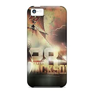 Shock-Absorbing Hard Cell-phone Cases For Iphone 5c With Custom Beautiful Tampa Bay Buccaneers Pattern MansourMurray