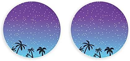 Abridor de noche de verano con silueta de palmeras tropicales, 2 piezas, abridor de botellas, imanes de nevera
