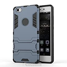 Huawei P8 lite Case, Cocomii Iron Man Armor NEW [Heavy Duty] Premium Tactical Grip Kickstand Shockproof Hard Bumper Shell [Military Defender] Full Body Dual Layer Rugged Cover (Black)
