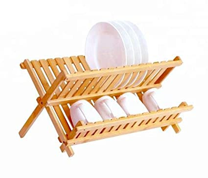 Bamboo Dish Drying Rack.Bamboo Dish Drying Rack Collapsible Dish Drainer Foldable Wooden Dish Drying Rack 1 Dish Rack
