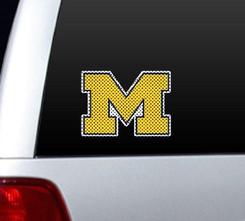 Michigan Wolverines Die-Cut Window Film - Large Die Cut Logo Window Film