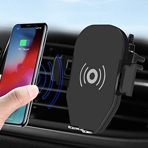 (New Wireless Car Charger Mount,Intelligent Induction 10W Fast Charging Qi Car Phone Holder Air Vent Dashboard Compatible Samsung Galaxy S10 /S10+/S9 /S9+/S8 /S8+,iPhone Xs Max/Xs/XR/X/ 8/8 Plus)